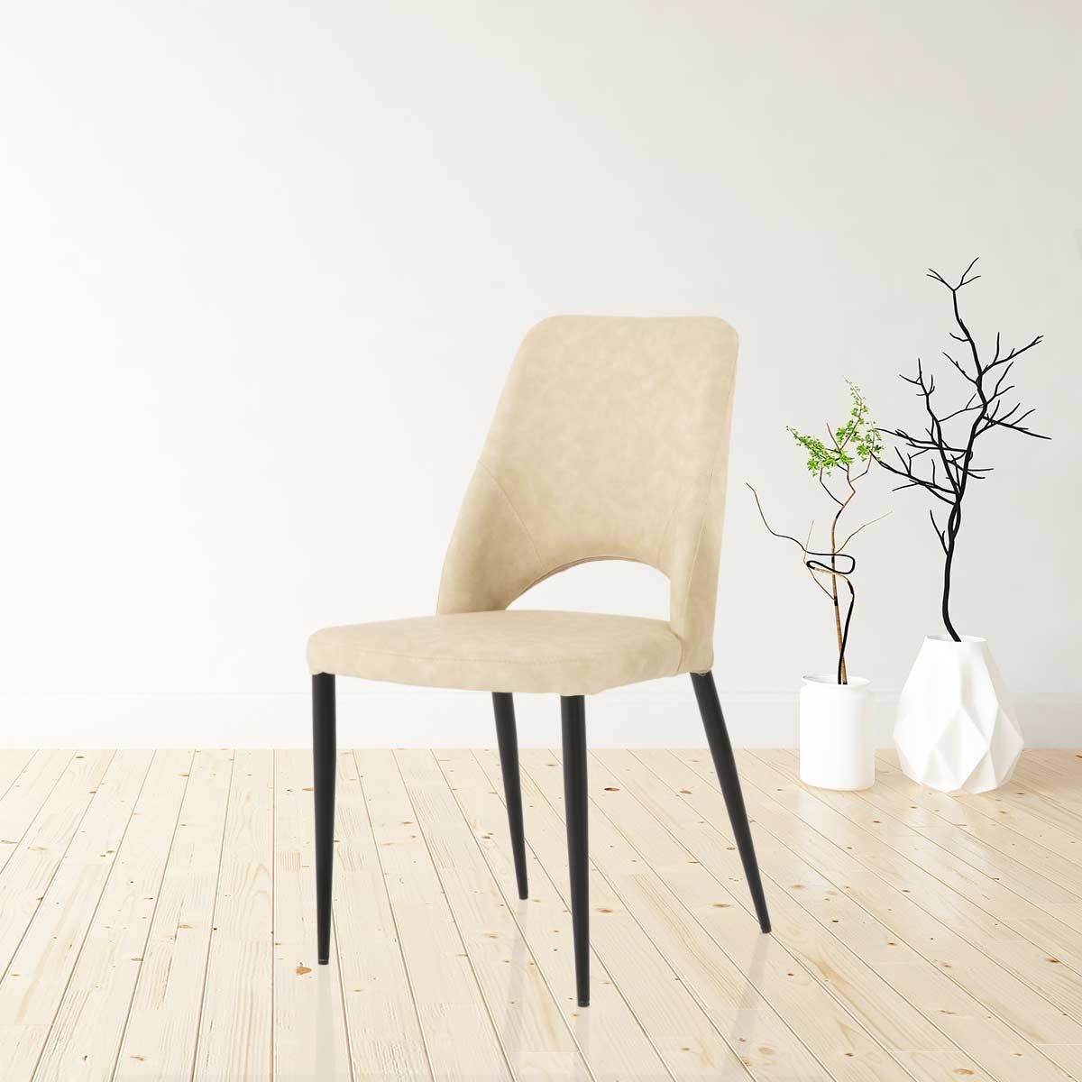 כיסא ויסקי דמוי עור אבן